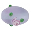 "Glass Bead Oval 10x15mm 8""str Violet Matt"